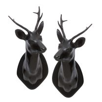 Stag Head set of 2
